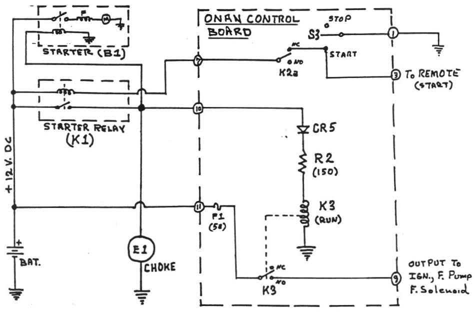 p06 onan control board operation