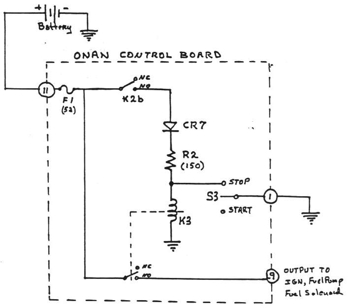 onan control board operation rh gmcws org  onan performer 16 coil wiring diagram
