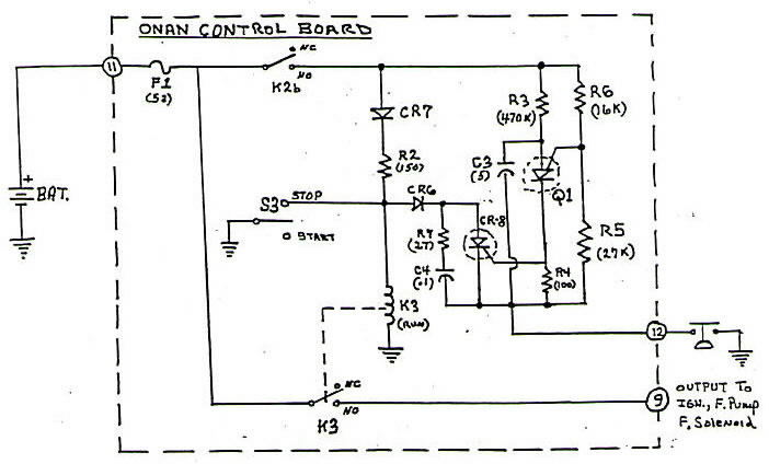 p12 onan control board operation
