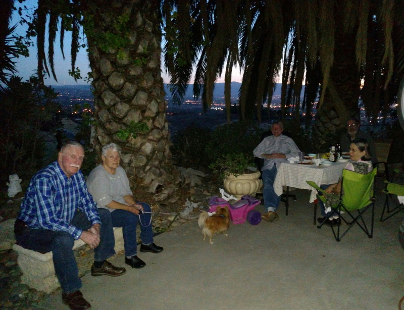 Dinner on the patio